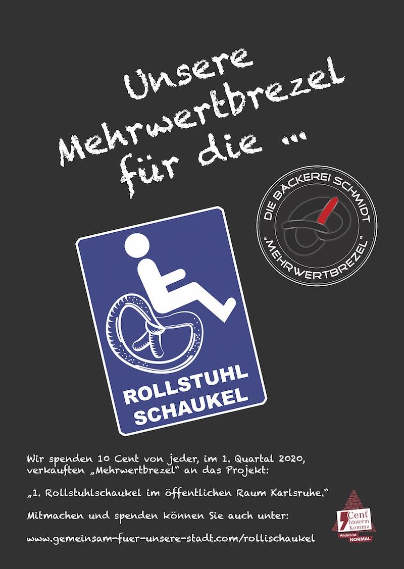 Rollstuhlschaukel Mehrwertbrezel Bäckerei Schmidt Karlsruhe